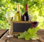 Publicidad del vino fotografía de archivo