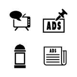 publicidad Iconos relacionados simples del vector Foto de archivo