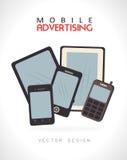 Publicidad móvil Imagen de archivo libre de regalías