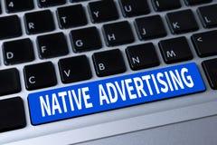 Publicidad nativa Fotografía de archivo