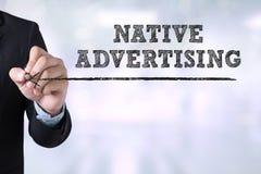Publicidad nativa Fotos de archivo libres de regalías