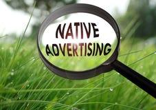 Publicidad nativa Fotografía de archivo libre de regalías