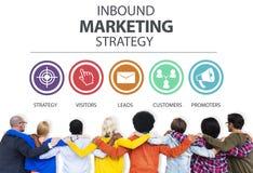 Publicité d'arrivée Co de marquage à chaud commerciale de stratégie marketing Image libre de droits