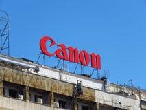 Publicité de bâtiment de Canon Photographie stock libre de droits