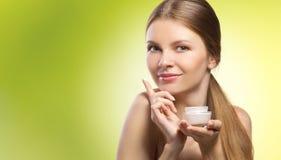 Publicité de cosmétique naturel Photos libres de droits