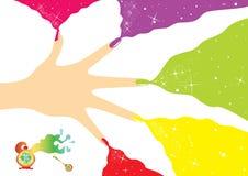 Publicité de vernis à ongles Photos libres de droits
