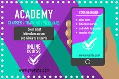 Publicité en ligne d'éducation Photographie stock