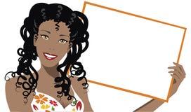 Publicité heureuse illustration stock