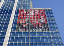 Publicité pour le NHL 2011 tout le jeu d'étoile Photo stock