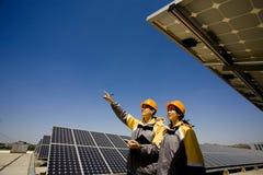 Publicité solaire photos stock