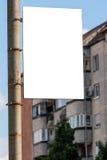 Publicité vide Photographie stock libre de droits