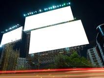 Publicité vide de panneau d'affichage Photographie stock libre de droits
