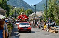 Publiciteitscaravan, Ronde van Frankrijk 2017 Stock Fotografie