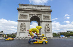 Publicitethusvagn i Paris - Tour de France 2016 Royaltyfri Bild