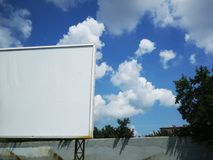 Publicity board. Pure publicity board against the sky royalty free stock photo