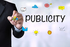 PUBLICITY royalty free stock images