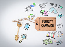 Publicity Campaign. Key on a white background vector illustration