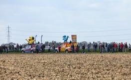 The Publicity Caravan During Paris Roubaix Cylcing Race Stock Photo