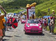 Publicity Caravan in Pyrenees Stock Image