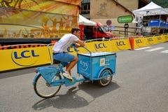 Publicity Caravan, Tour de France 2017 Stock Photos