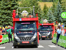 Publicity Caravan, Tour de France 2017 Royalty Free Stock Photos