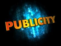 Publicity - Gold 3D Words. Royalty Free Stock Images