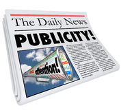 Publicity Newspaper Headline Attention Reporting Coverage Stock Photography