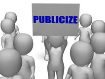 Publicize Board Character Means Commercial Royalty Free Stock Photography