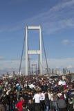 Publick walk of 35. Istanbul Marahone Stock Photos