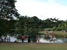 Publiczny występ jeziorem Obrazy Royalty Free