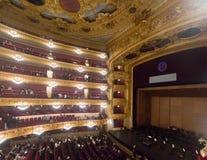 Publiek bij Beethoven-Overleg in Gran Teatre del Liceu stock foto's
