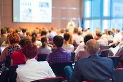 Publiek bij de conferentiezaal Royalty-vrije Stock Afbeelding