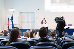 Publiek bij de conferentiezaal Stock Foto