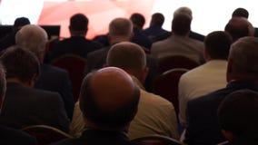 Publiek op de conferentie stock footage