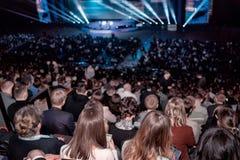 Publiek op handelsconferentie Stock Afbeeldingen