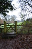 Publiek recht van manierpoort in het platteland van Sussex Stock Afbeelding