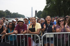 Publikum auf dem nationalen Mall Lizenzfreies Stockbild