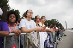 Publikum auf dem nationalen Mall Stockbild