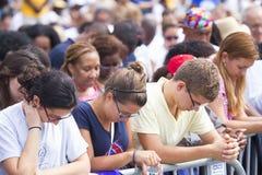 Publikum auf dem nationalen Mall Lizenzfreie Stockfotografie