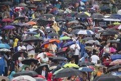 Publikum auf dem nationalen Mall Stockfotos