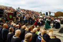 Publikum auf Rebernte 2015, Maribor, Slowenien Stockfotos