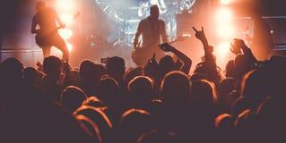 Publikum auf Rockkonzert lizenzfreie stockfotos