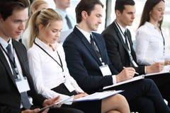 Publikum bei der Konferenz Stockbild