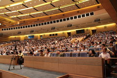 Publikum des internationalen Seminars stockfotos