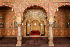 Publikum Hall in Junagarh-Fort, Bikaner, Indien stockfotografie