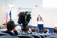 Publikum am Konferenzsaal Stockbild