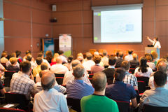 Publikum am Konferenzsaal Lizenzfreie Stockbilder