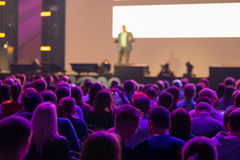 Publikum am Konferenzsaal Lizenzfreies Stockfoto