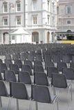 Publikum sitzt im Freien vor Lizenzfreies Stockbild