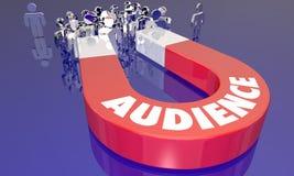 Publikums-Kunden-Zuschauer-Besucher-Magnet-Anziehungskraft Lizenzfreie Stockfotografie